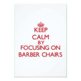 Behalten Sie Ruhe, indem Sie auf Friseur-Stühle 12,7 X 17,8 Cm Einladungskarte
