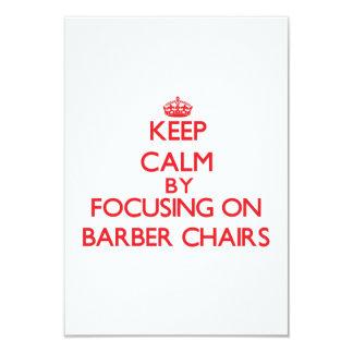 Behalten Sie Ruhe, indem Sie auf Friseur-Stühle 8,9 X 12,7 Cm Einladungskarte