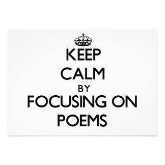 Behalten Sie Ruhe, indem Sie auf Gedichte sich