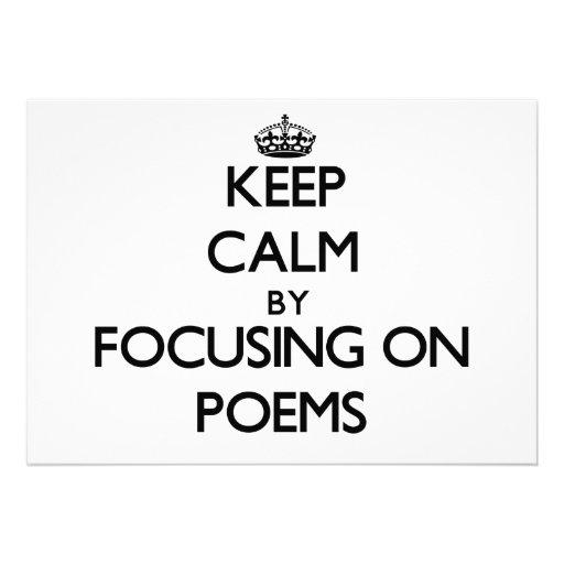 Behalten Sie Ruhe, indem Sie auf Gedichte sich Individuelle Einladungen