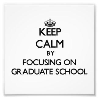 Behalten Sie Ruhe indem Sie auf graduierte Schule