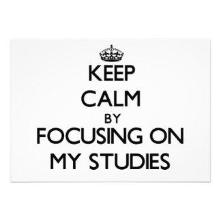 Behalten Sie Ruhe indem Sie auf meine Studien