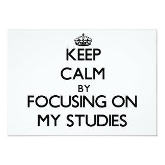 Behalten Sie Ruhe, indem Sie auf meine Studien Personalisierte Einladung