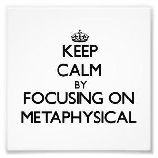 Behalten Sie Ruhe, indem Sie auf metaphysisches Photodrucke