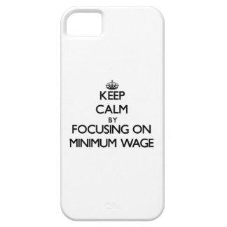 Behalten Sie Ruhe, indem Sie auf Mindestlohn sich iPhone 5 Etui