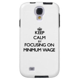 Behalten Sie Ruhe, indem Sie auf Mindestlohn sich Galaxy S4 Hülle