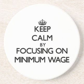 Behalten Sie Ruhe indem Sie auf Mindestlohn sich
