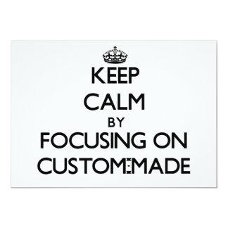 Behalten Sie Ruhe, indem Sie auf nach Maß sich Personalisierte Ankündigungen