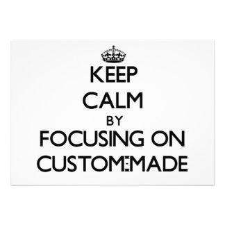 Behalten Sie Ruhe indem Sie auf nach Maß sich Personalisierte Ankündigungen