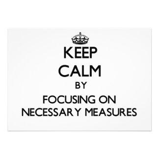 Behalten Sie Ruhe indem Sie auf notwendige Maße