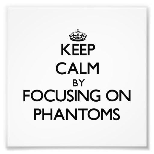 Behalten Sie Ruhe, indem Sie auf Phantome sich Photographien