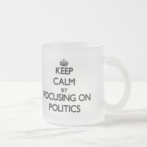 Behalten Sie Ruhe, indem Sie auf Politik sich Tee Haferl