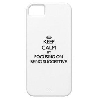 Behalten Sie Ruhe, indem Sie auf Sein andeutend iPhone 5 Schutzhülle