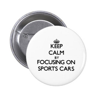Behalten Sie Ruhe, indem Sie auf Sport-Autos sich Buttons