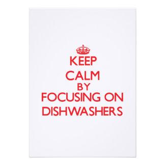 Behalten Sie Ruhe, indem Sie auf Spülmaschinen Ankündigungskarten