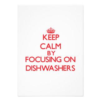 Behalten Sie Ruhe indem Sie auf Spülmaschinen Ankündigungen