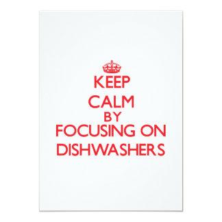 Behalten Sie Ruhe, indem Sie auf Spülmaschinen Ankündigungen