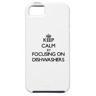 Behalten Sie Ruhe, indem Sie auf Spülmaschinen iPhone 5 Etui