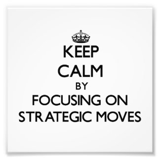 Behalten Sie Ruhe indem Sie auf strategische