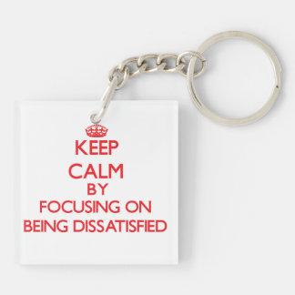 Behalten Sie Ruhe, indem Sie auf unzufrieden Schlüsselanhänger