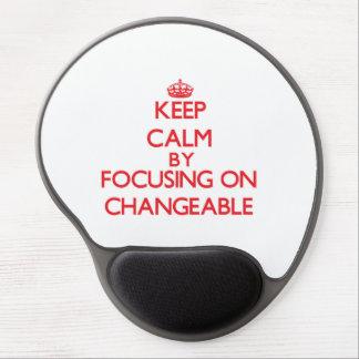Behalten Sie Ruhe, indem Sie auf veränderbares