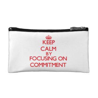 Behalten Sie Ruhe, indem Sie auf Verpflichtung