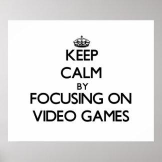 Behalten Sie Ruhe, indem Sie auf Videospiele sich Poster