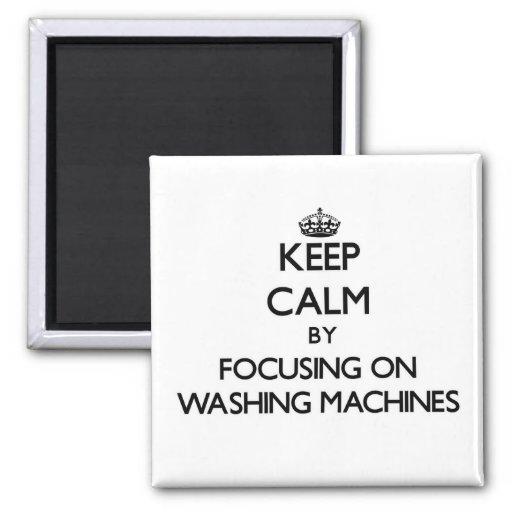 Behalten Sie Ruhe, indem Sie auf Waschmaschinen Kühlschrankmagnet