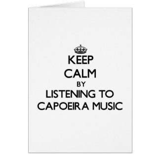 Behalten Sie Ruhe, indem Sie CAPOEIRA MUSIK hören Karte