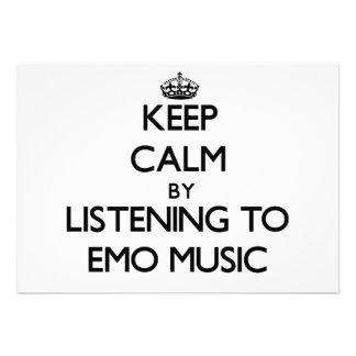 Behalten Sie Ruhe, indem Sie EMO MUSIK hören Individuelle Einladungen
