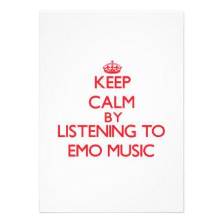 Behalten Sie Ruhe, indem Sie EMO MUSIK hören Ankündigungen