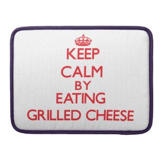 Behalten Sie Ruhe indem Sie gegrillten Käse essen Sleeves Für MacBook Pro