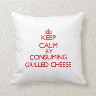 Behalten Sie Ruhe, indem Sie gegrillten Käse Kissen