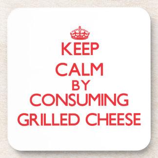 Behalten Sie Ruhe indem Sie gegrillten Käse Untersetzer