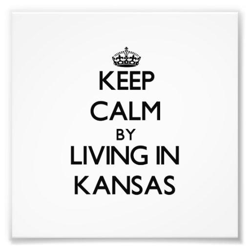 Behalten Sie Ruhe, indem Sie in Kansas wohnen Foto Drucke