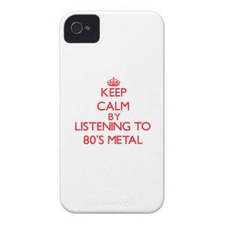 Behalten Sie Ruhe, indem Sie zu Achtzigerjahre iPhone 4 Case-Mate Hüllen