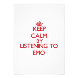 Behalten Sie Ruhe, indem Sie zu EMO hören Einladungskarte