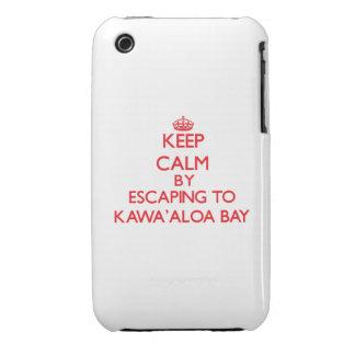Behalten Sie Ruhe indem Sie zu Kawa Aloa Bucht iPhone 3 Cover