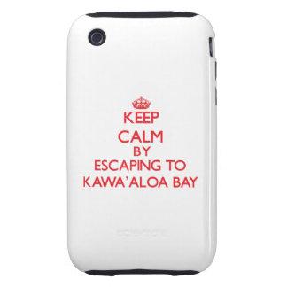 Behalten Sie Ruhe indem Sie zu Kawa Aloa Bucht Tough iPhone 3 Etuis