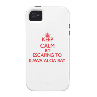 Behalten Sie Ruhe indem Sie zu Kawa Aloa Bucht iPhone 4 Case