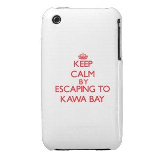 Behalten Sie Ruhe indem Sie zu Kawa Bucht Hawaii Case-Mate iPhone 3 Hüllen