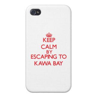 Behalten Sie Ruhe indem Sie zu Kawa Bucht Hawaii iPhone 4 Etui