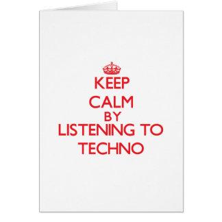 Behalten Sie Ruhe indem Sie zu TECHNO hören