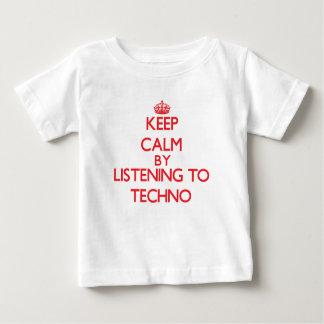 Behalten Sie Ruhe, indem Sie zu TECHNO hören Baby T-shirt