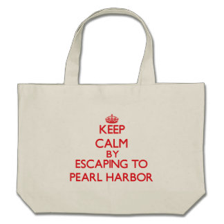 Behalten Sie Ruhe, indem Sie zum Pearl Harbor Tragetasche