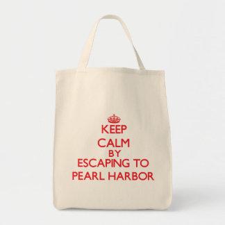 Behalten Sie Ruhe, indem Sie zum Pearl Harbor Tasche