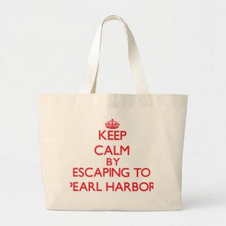 Behalten Sie Ruhe, indem Sie zum Pearl Harbor Einkaufstaschen