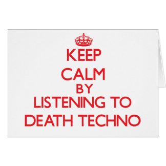 Behalten Sie Ruhe indem Sie zum TOD TECHNO hören