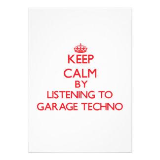 Behalten Sie Ruhe indem Sie zur GARAGE TECHNO