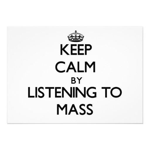 Behalten Sie Ruhe, indem Sie zur MASSE hören Individuelle Ankündigskarten